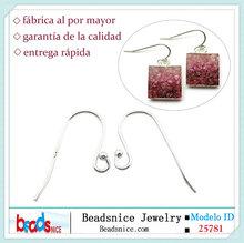 Beadsnice ID 25781 ley 925 aretes de plata de gancho componentes para el pendiente DIY