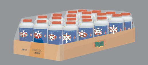 Shrink wrap packaging machine for bulk products