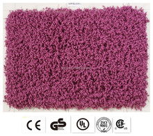 soft custom exhibition plain antislip polyester silk shaggy rugs