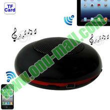 Wireless Mini Round Bluetooth Speaker for iPad 5/4/3,iPhone 5S/5C/5, iPhone 4 & 4S / 3GS, etc (Black)