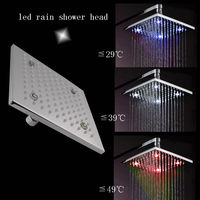 Classic Top brass hotel rain shower head with water power led lights