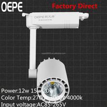 Hot 12w 15w 20w led track light white light aluminum body led track light CE-ROHS certification cob led track lights