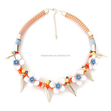 Fashion jewelry made in china wholesale Elegant Flower Necklace For Women Summer (X-0318)