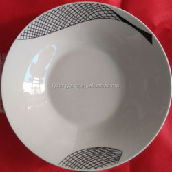 """9"""" high qulity round porcelain plate"""