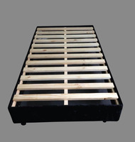 Knock down slat bed base solid wood bedbase