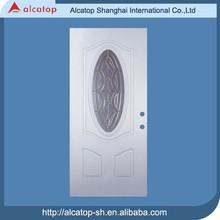 wooden slite PU filling commercial door