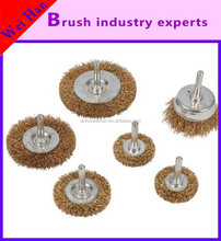 excellent copper wire cup brush with shank