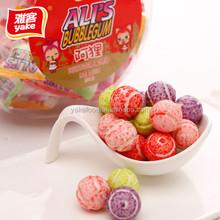 Blueberry bubble gum with tennis balls shape