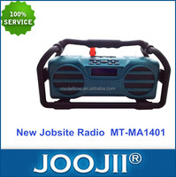 High quality waterproof shockproof jobsite radio FM /USB/SD/BT/EQ