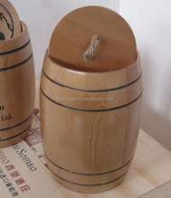 crafts wooden barrel box for sale