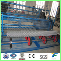 automatic industrial Diamond wire mesh net making machinary/chain link fence making machine with CE certificate
