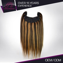 Natural Straight Womens Human Remy Woven Hair Extension Wholesale
