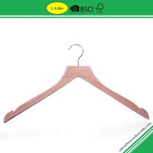 LM6604 Natural Design Antiskid Wooden Bulk Clothes Hangers