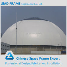 Construction by space frame dome type roof