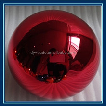 stainless steel hollow colourful ball for outdoor ornament