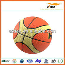 size 7 colorful cheap rubber basketball kids playing