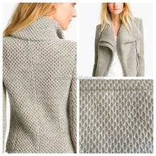 2015 A&W high quality fashion knit wool fabric for coat