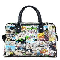 Outdoor sport waxed canvas duffle bag, waterproof and overall cartoon printing, Tacuu brandsTH1204