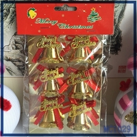 Promotion christmas tree ornament cheap wholesale factory price fast delivery hot sale american christmas bell decorations