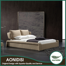 Latest Bed Designs With Low Price OEM Acceptable White King Size Leather Bed