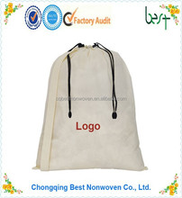 pp non woven fabric drawstring laundry bag pouch bag