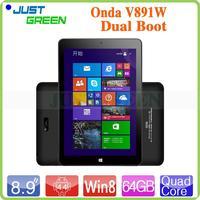 Brand New Onda V891W RAM 2GB ROM 32GB quad core 2MP+5MP OTG tablet pc software download factory price