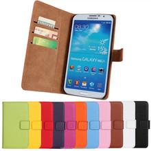 Luxury holster wallet Genuine leather case Flip leather case for Samsung Galaxy Mega 6.3 i9200 Flip Mobile phone cases