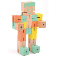 2015 hot sale wooden robot toy, DIY robot with very cheap price factory