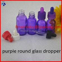 Personal care essential oil use purple mold 10ml glass bottles with dropper