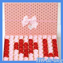 2015 New style Valentine's Day wedding gift rose shape soap flower romantic gifts toilet soap bath supplies MHo-020