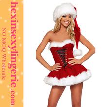 rojo al por mayor de moda santa claus vestidos para las mujeres