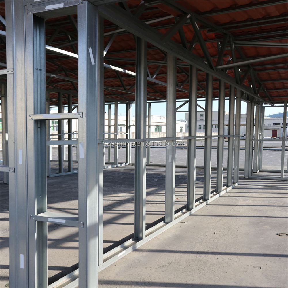 Metal Stud Partition Walls : House steel partition wall system stud and track view