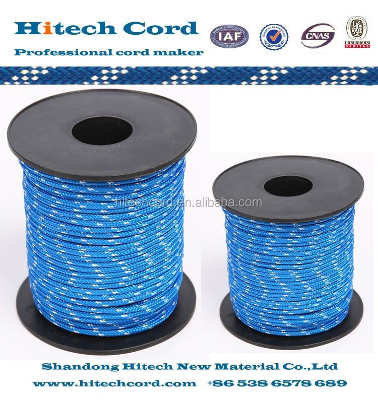 3mm blue color Polypropylene multifilament braid rope