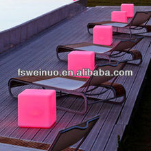 hot sale 2014 PE LED lighting cube chair/table / bar lighting seat