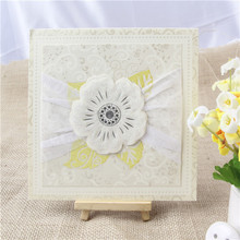 Trial order welcome most popular hot sale flower invitation card