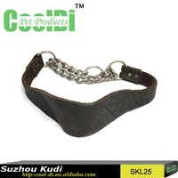 New products 2016 cowhide dog cervical collar