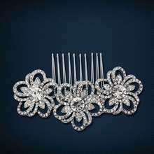 Austrian crystal jewelry classic diamond hair comb inserted comb bridal headdress flower wholesale manufacturers