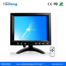 Square screen 8inch vga tft lcd touch screen monitor