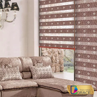 2015 new style embroidery zebra blinds for home decor/High-quality Anti-UV Zebra roller Blinds Fabric