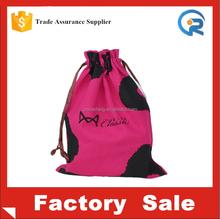 Convenient canvas drawstring promotional bag For Bra Underwear Storage