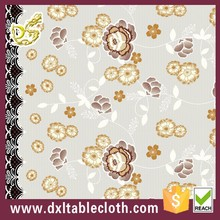 Printed Pattern and Square Shape plaid lace tablecloth pvc