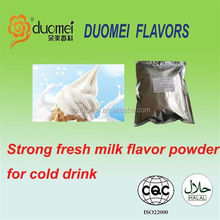 Strong fresh milk flavor powder for cold drink