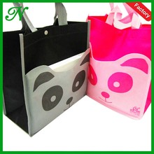 hot sale half piping lovely tote women non woven shopping bag with handle