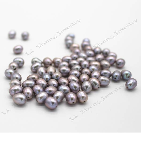 хороший блеск красивые рисовые формы окрашенная серый цвет свободные шарики ёемчуёина половины