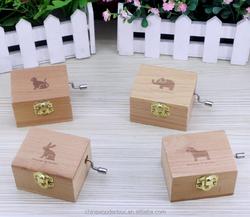 2015 hot sale wooden music box individual musical gift handmade