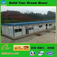 Low cost steel frame Prefabricated Assembled House prefab steel building corrugated steel buildings