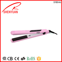 2014 newest colorful smallest design portable hair straightener with CE certification Silk Ceramic Flat Iron 2 Inch 455F LCD