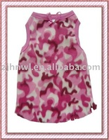 pink lively pet clothes tank