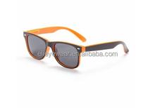Two tones beatiful black with orange plastic children sunglasses