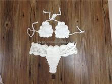 women sexy black crochet brazilian bikini swimwear